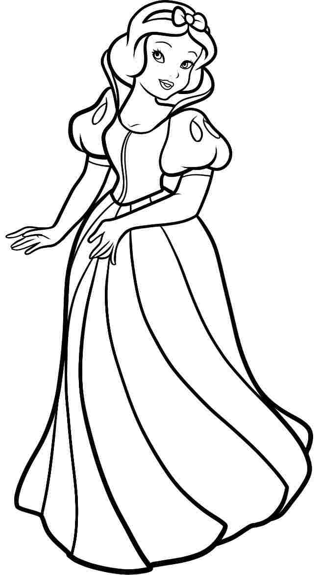 651x1174 Snow White Coloring Pages For Kids