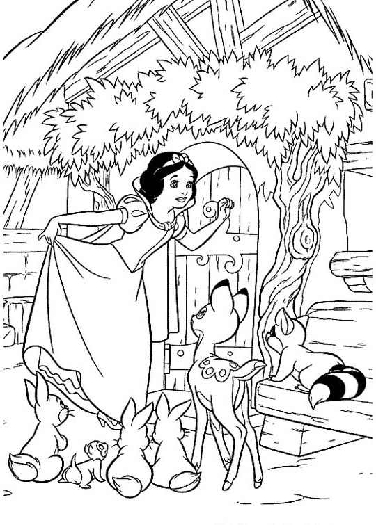 540x755 Snow White And The Seven Dwarfs Coloring Pages