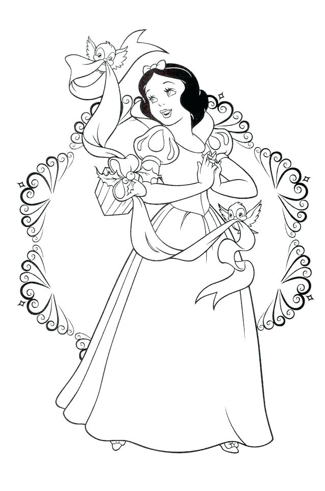637x960 Disney Snow White Coloring Pages