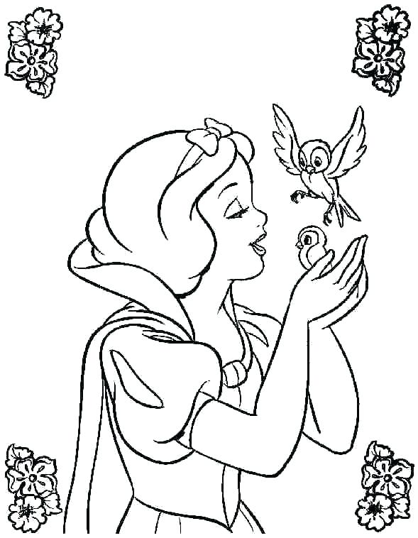 589x758 Princess Coloring Pages For Kids