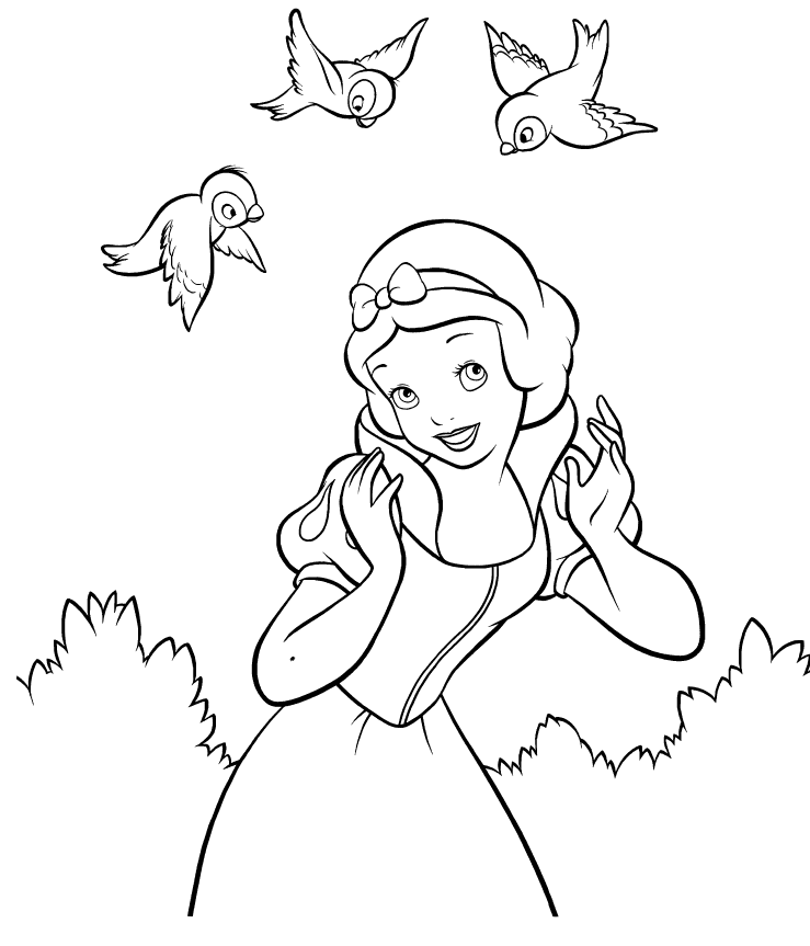 739x863 Disney Snow White Coloring Page Children And Princess Party