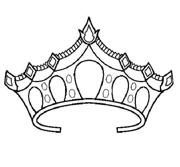 600x557 Princess Crown Coloring Pages To Print Princess Crown Coloring