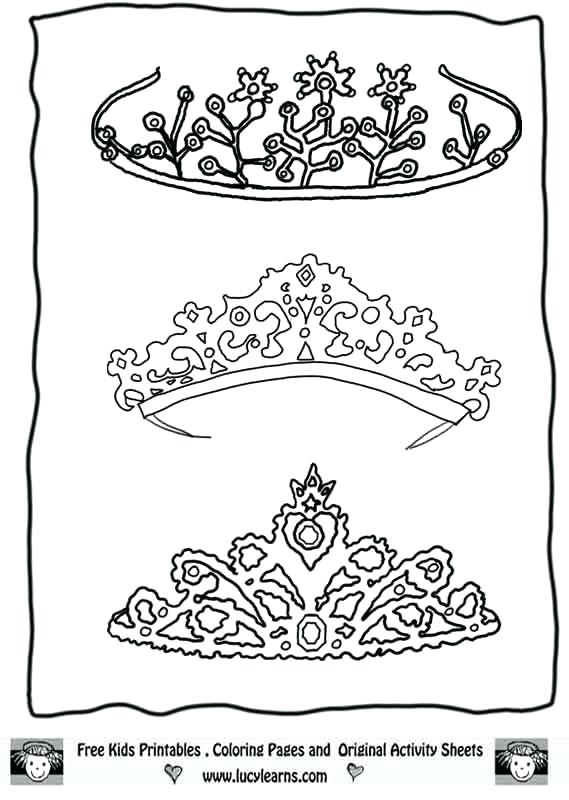 569x800 How To Draw Tiara Google Search Project Photo Booth Tiara Coloring