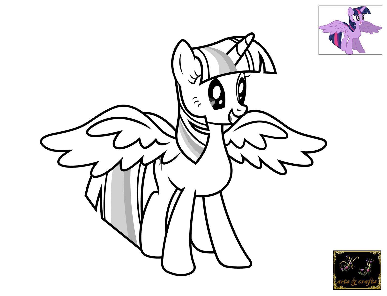 Princess Twilight Coloring Pages