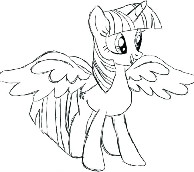 Princess Twilight Sparkle Coloring Page at GetDrawings.com ...
