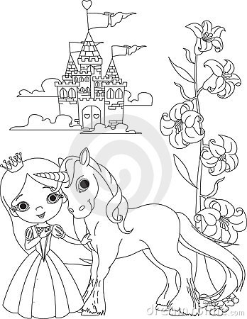 Princess Unicorn Coloring Pages at GetDrawings   Free download