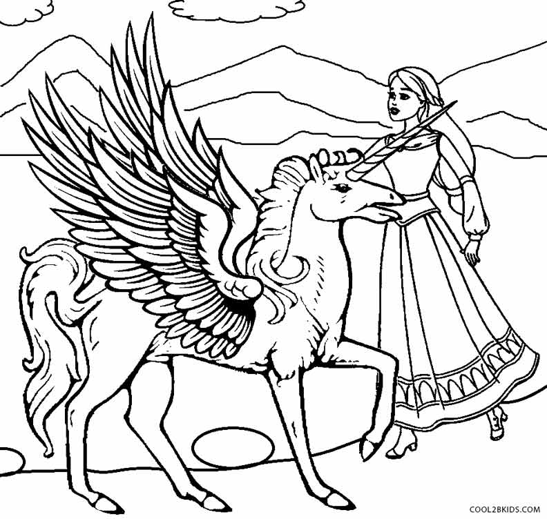 Princess Unicorn Coloring Pages at GetDrawings | Free download