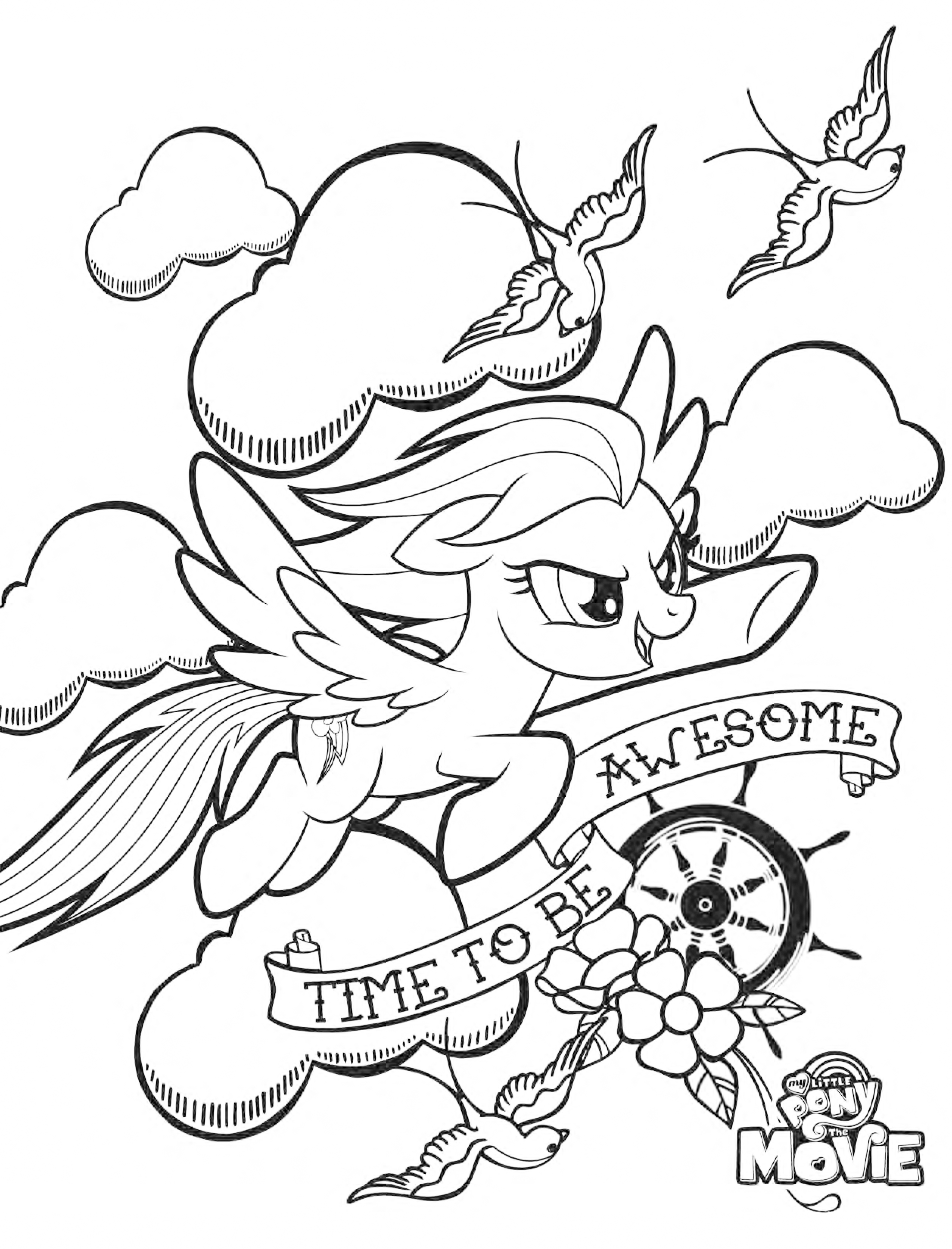 2516x3300 My Little Pony The Movie Coloring Pages