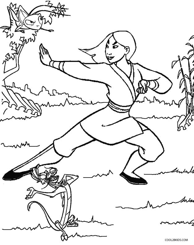 627x792 Printable Mulan Coloring Pages For Kids