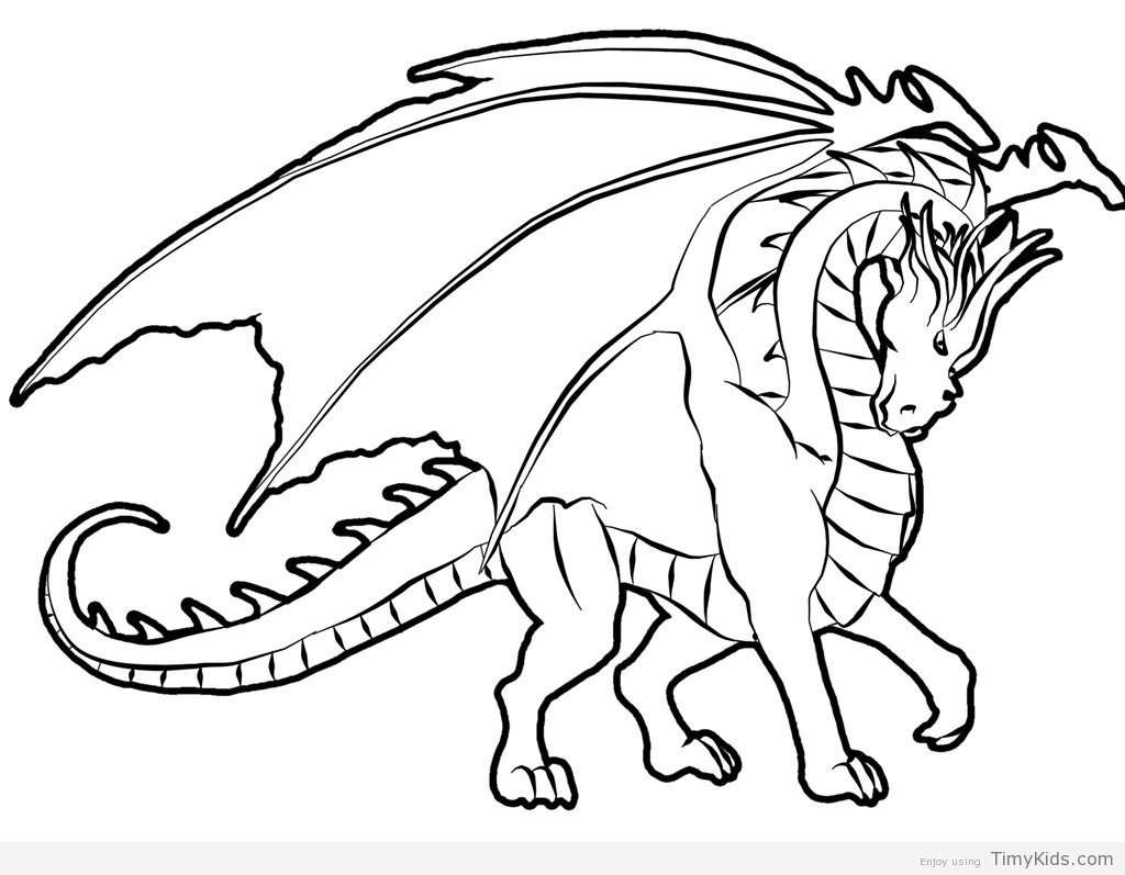 1024x797 Dragon Coloring Pages Free Timykids