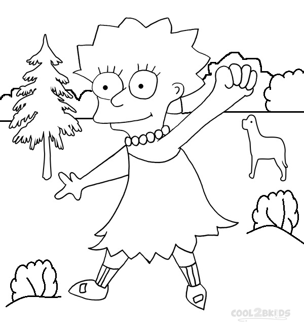 600x650 Cartoon Coloring Pages
