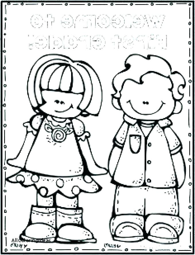 680x890 Coloring Page Of A School Mesmerizing Back To School Coloring