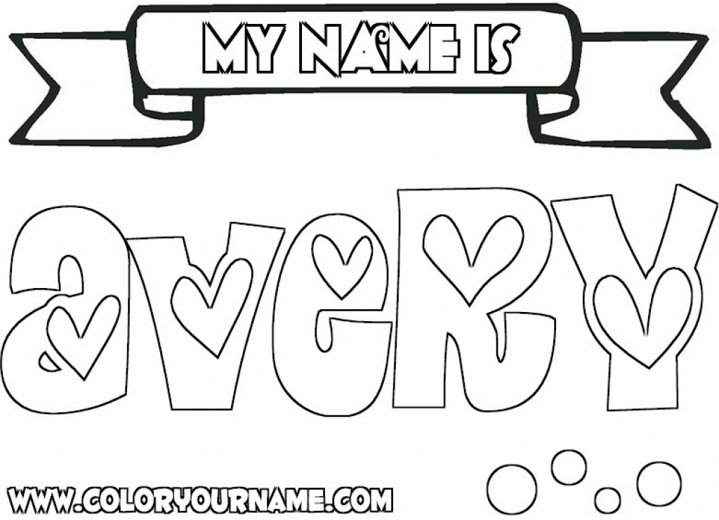 Print My Name Coloring Pages