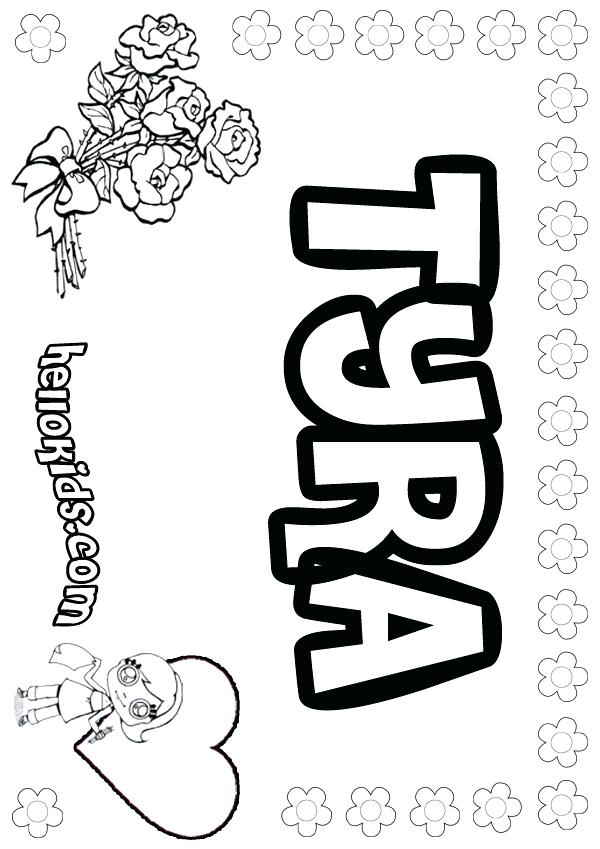 600x849 Hellokids Com Print My Name Coloring Page Name Coloring Pages