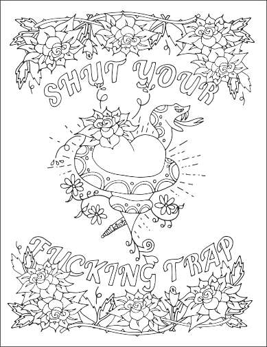 389x504 Swear Word Adult Coloring Pages