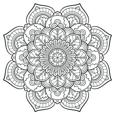 440x440 Mandala Coloring Pages To Print Printable Coloring Pages Printable