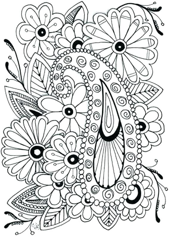 567x794 Printable Coloring Pages Of Flowers Flowers Coloring Pages