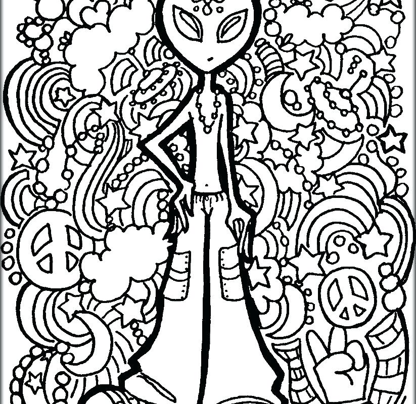 823x800 Coloring Pages For Adults Alien Kids Colouring Pages Color Free
