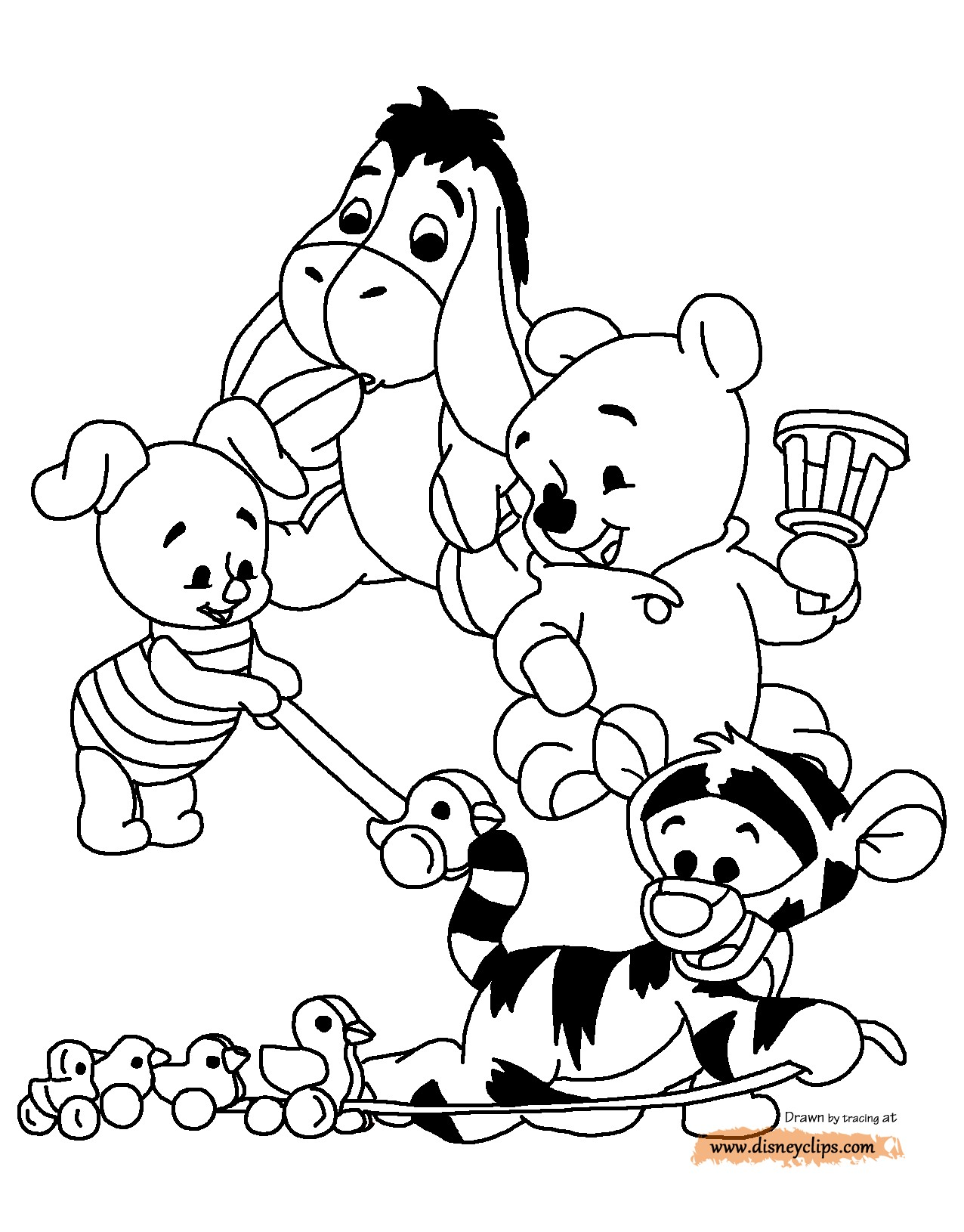 1276x1630 Coloring Pages Disney Baby Characters New Baby Pooh Printable
