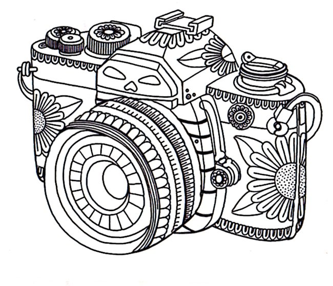 650x559 Get The Coloring Page Camera Free Coloring Pages For Adults