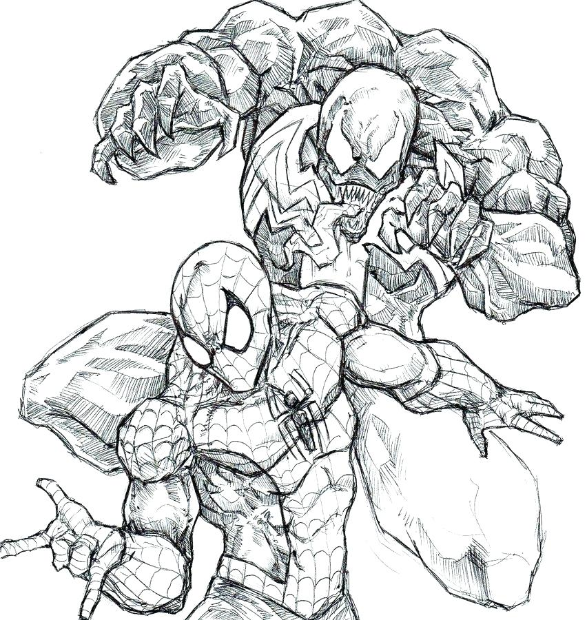 852x900 Spiderman And Venom Coloring Pages Venom Coloring Page Free