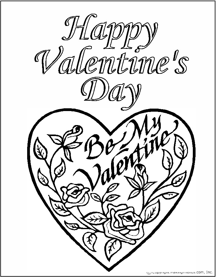 Print Out Valentines Day Coloring Pages