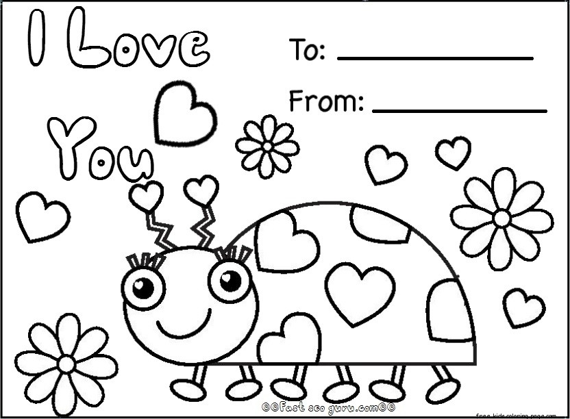 832x612 Print Out Coloring Pages For Valentines Day