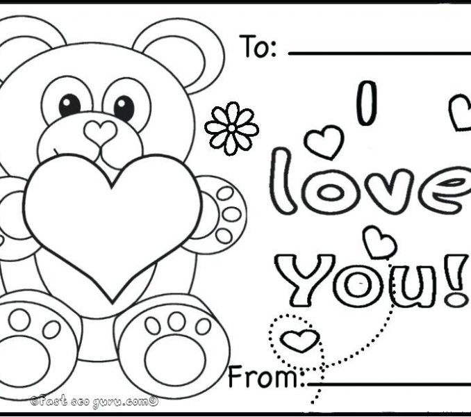 678x600 Valentines Day Coloring Cards Coloring Pages