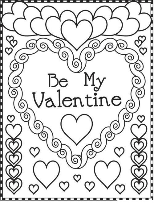 500x661 Valentines Day Coloring Pages Quotes Wishes For Valentine's Week