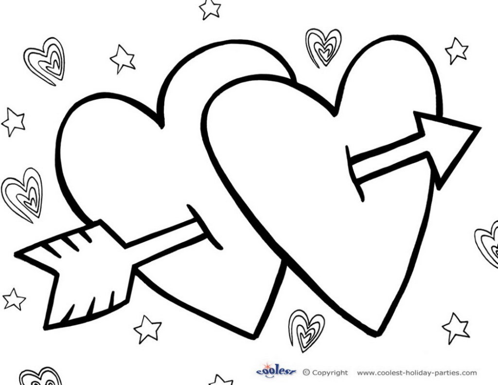1024x791 Valentine Day Coloring Pages Printable Scott Fay Free