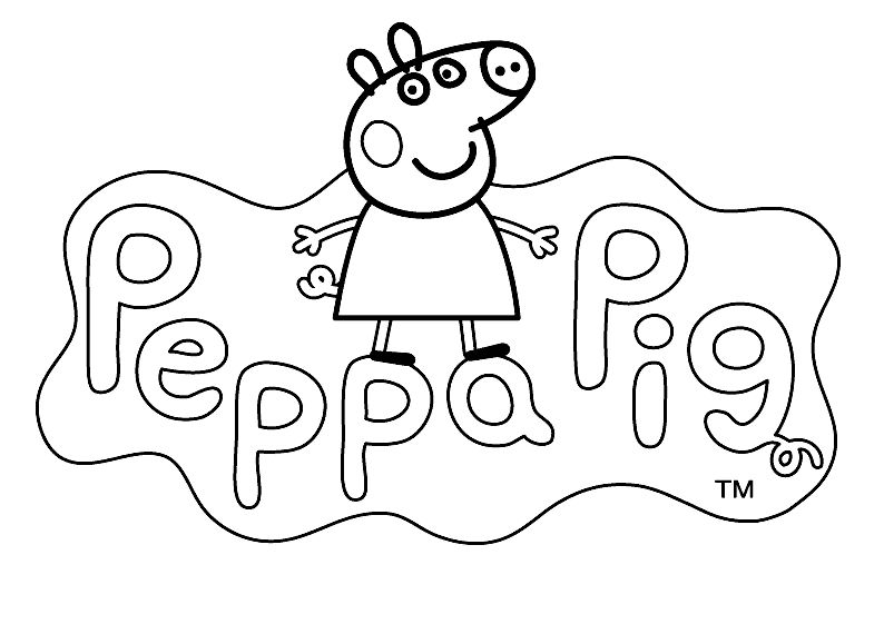 794x570 Easy Peppa Pig George Coloring Pages