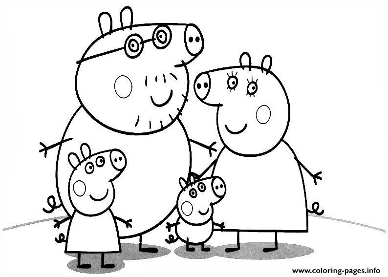 794x567 Family Of Peppa Pig Coloring Pages Printable