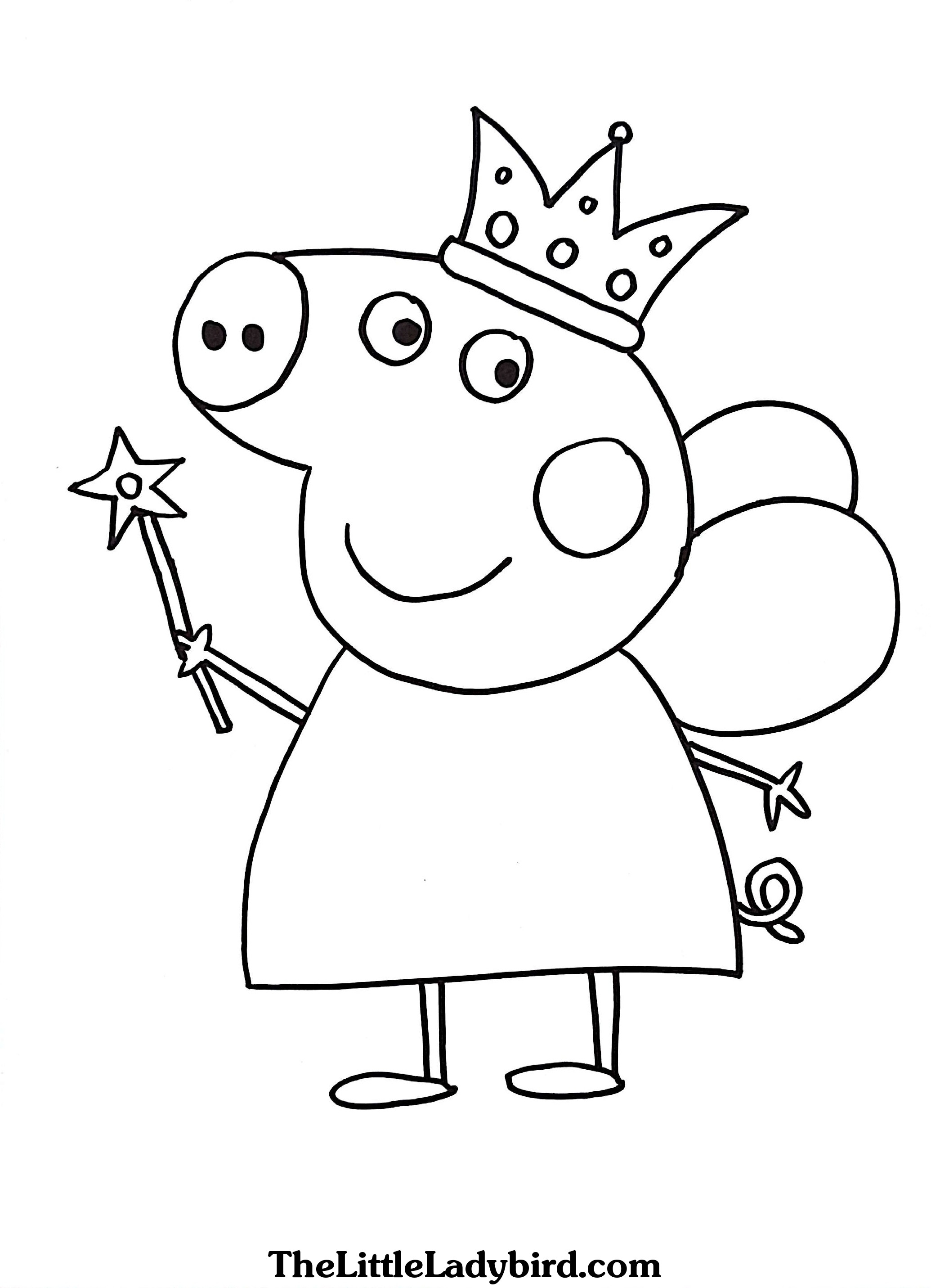 2070x2862 Monumental Peppa Pig Coloring Page Free Pages Printable