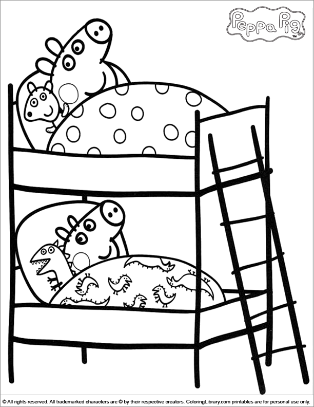 612x792 Peppa And George On Their Beds