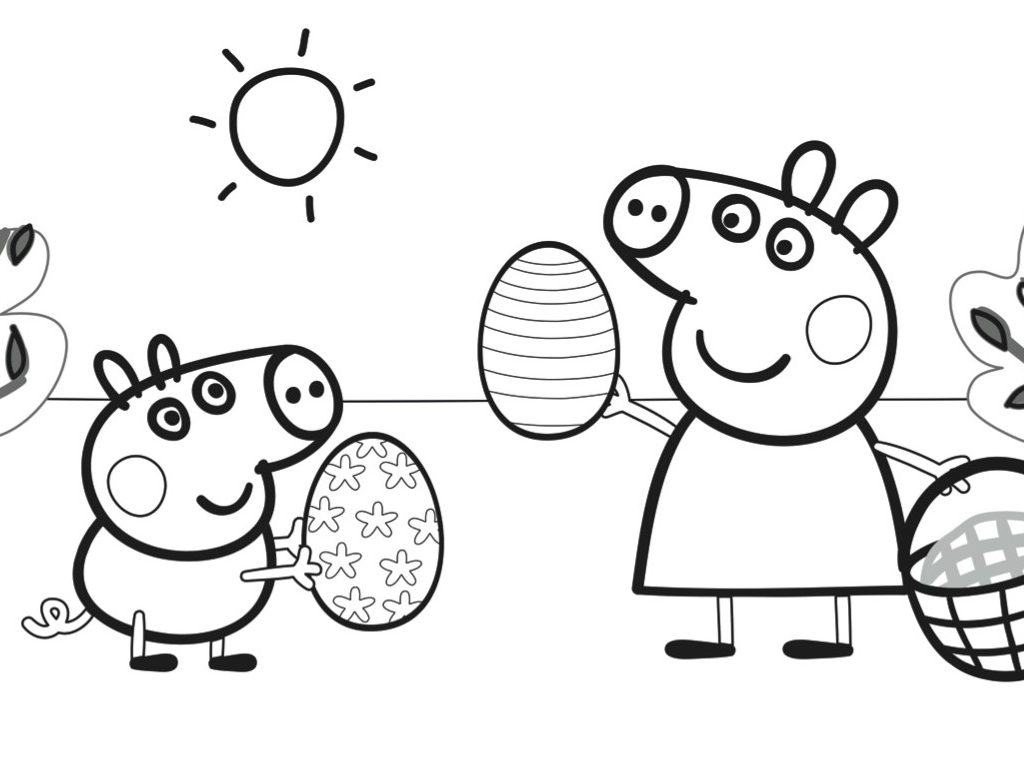 1024x758 Amazing Ideas Peppa Pig Coloring Pages Best Peppa Pig Coloring