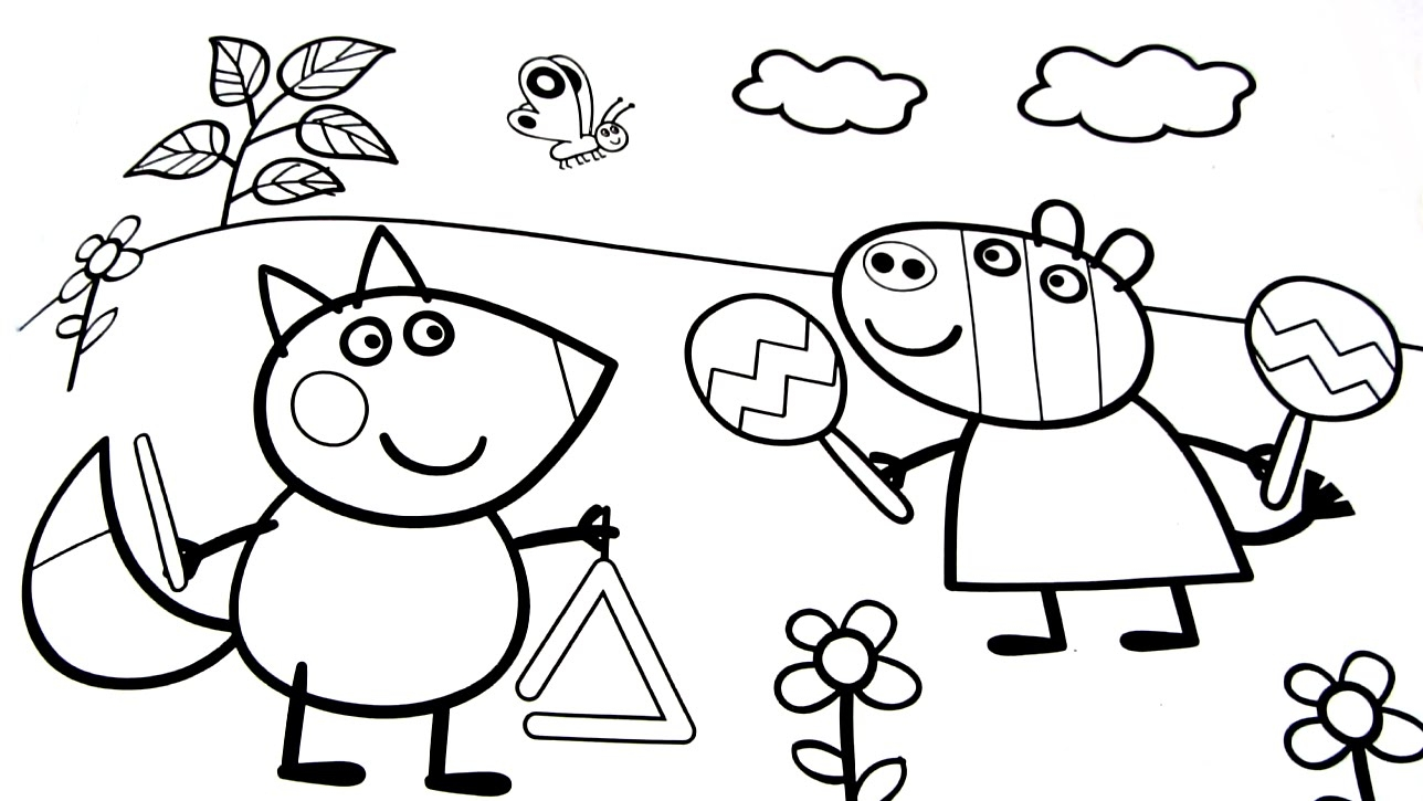 1288x725 Peppa Pig Coloring Pages Online Printable