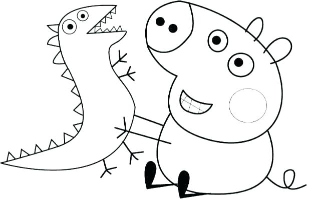 625x448 Peppa Pig Colour Pig Coloring Pages Pig Colouring Pages Printable