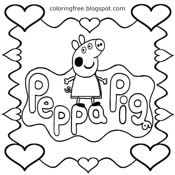 615x615 Peppa Pig Colouring Pages To Print Pig And Friends Colouring