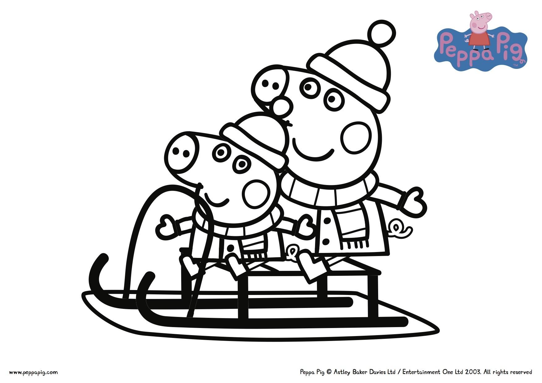 Print Peppa Pig Coloring Pages at GetDrawings | Free download