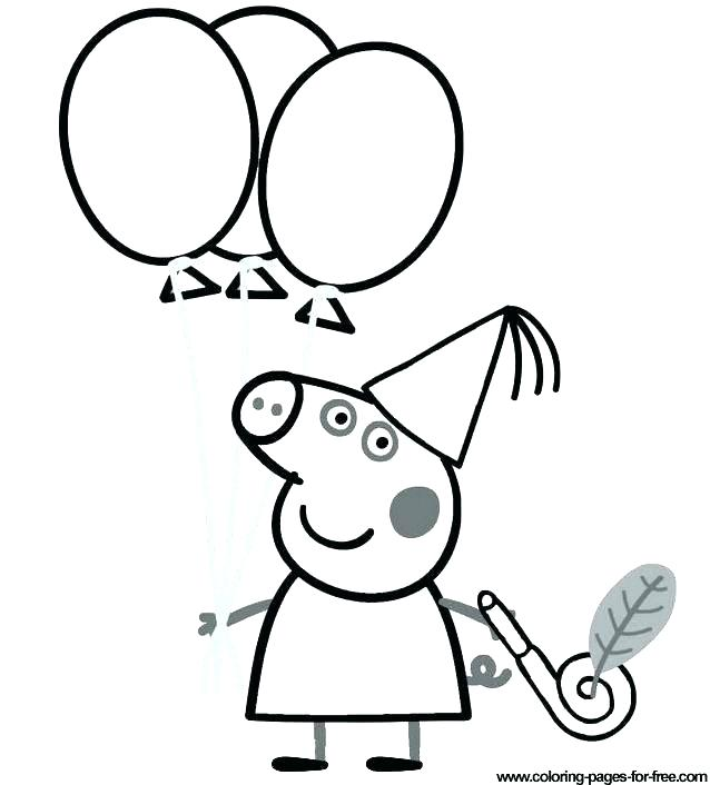 638x706 Peppa Pig Coloring Pages