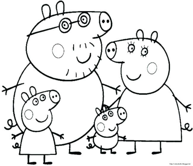 650x560 Peppa Pig Coloring Sheets