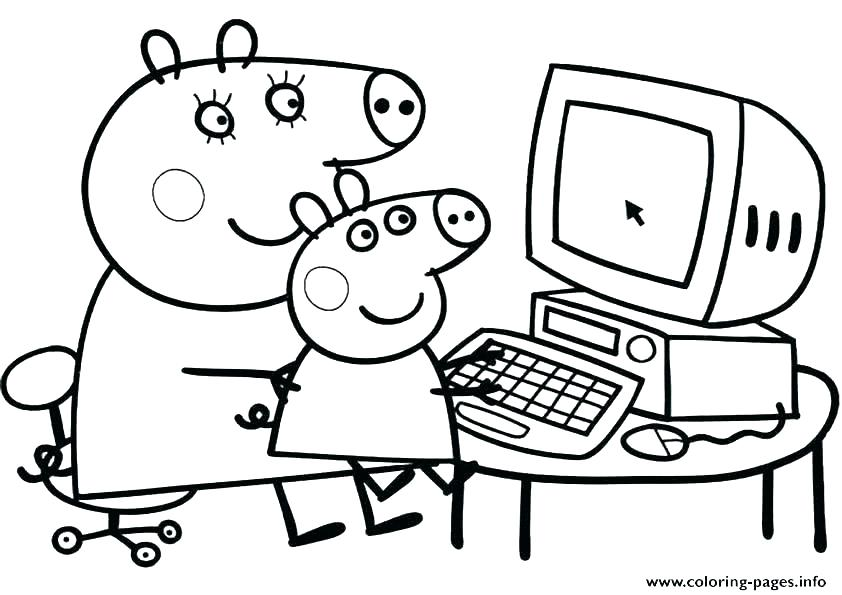 842x595 Coloring Pages Pig Coloring Pages The Book Page Free Printable Pig