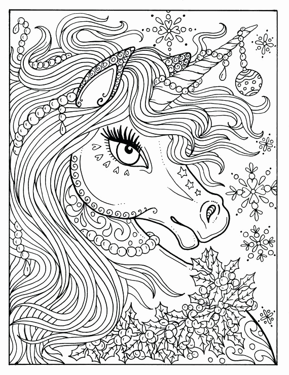 Printable Adult Christmas Coloring Pages