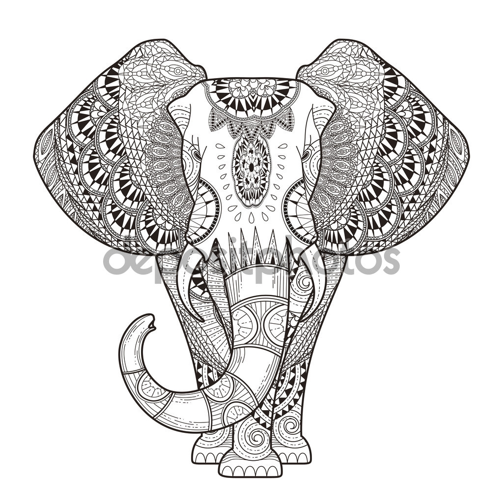 Printable Adult Coloring Pages Elephant at GetDrawings.com ...
