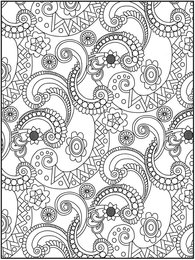 Printable Adult Coloring Pages Paisley
