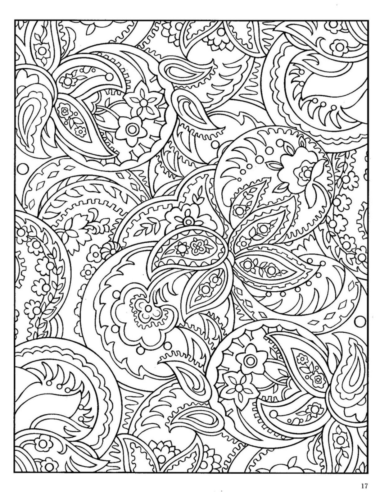 1224x1584 Dover Paisley Designs Coloring Book Cajas Para Imprimir