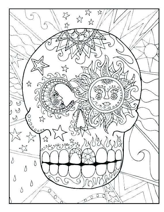 570x738 Free Sugar Skull Coloring Pages Free Adult Coloring Pages Detailed