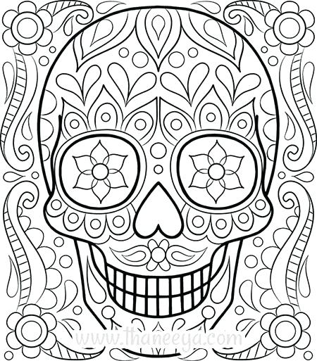 450x513 Printable Coloring Page Skull Coloring Pages Printable Coloring