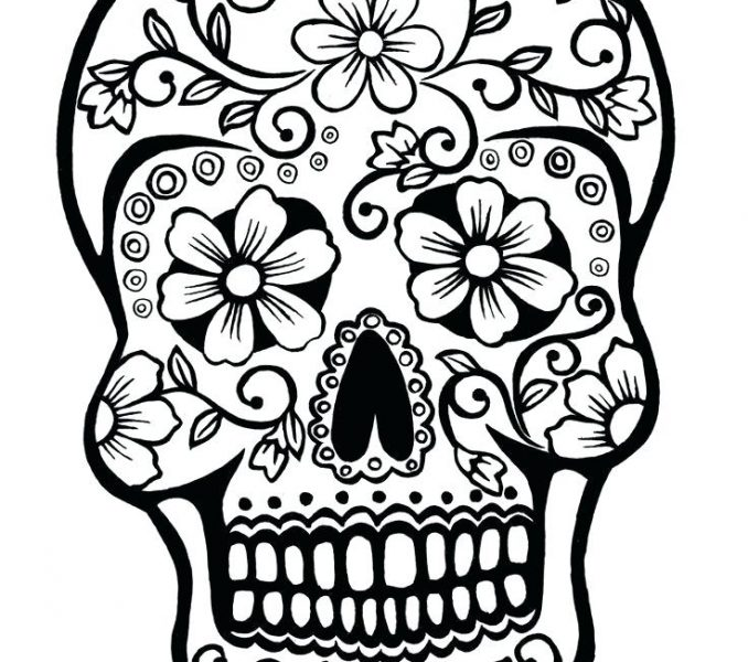 678x600 Skull Coloring Pages For Adults Coloring Pages To Print Coloring