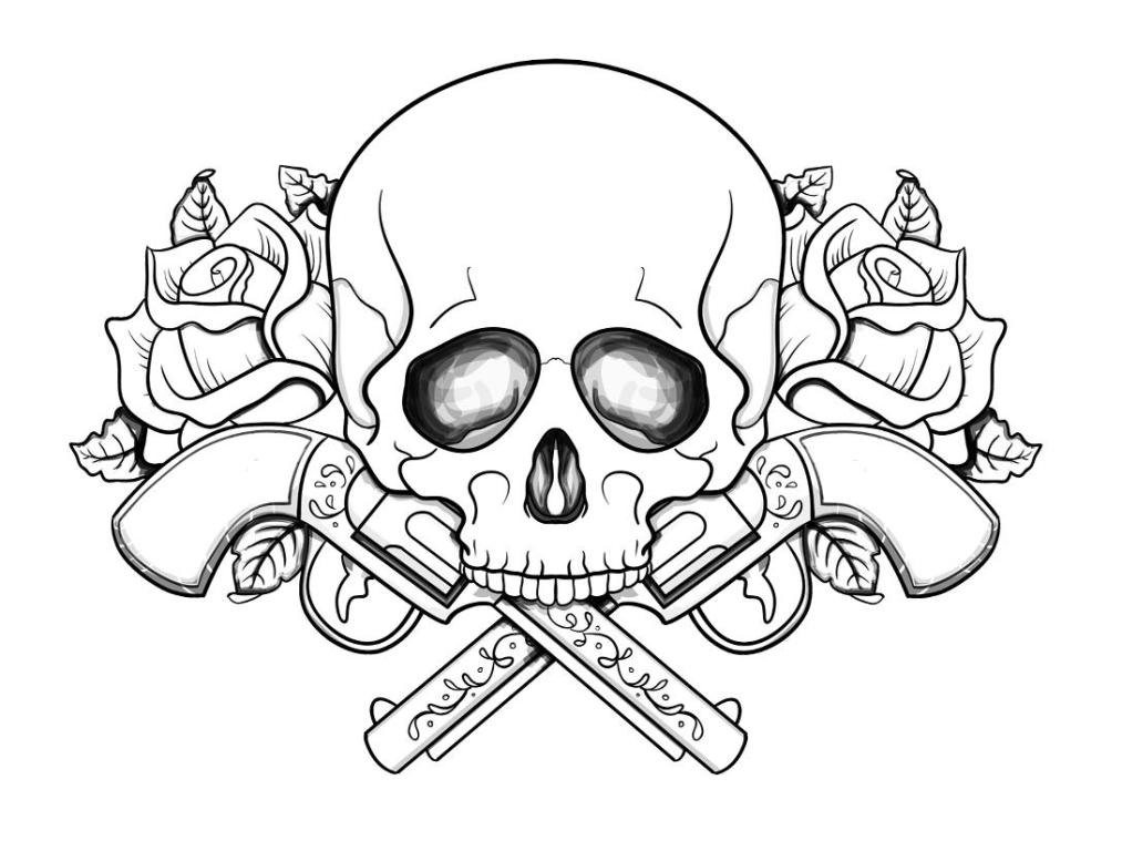 1013x768 Skull Coloring Pages For Adults Free Printable Abstract Coloring